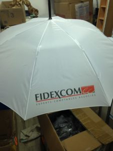 parapluie logo sublimation